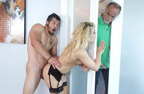 Image Unfaithful slut fucks her daughter's boyfriend while her husband is sleeping next door